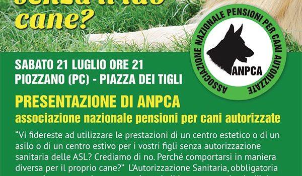 Presentazione ANPCA sabato 21 luglio a Piozzano (PC)